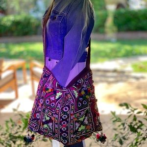 """🕉SOLD🕉From India - BoHo bag 20""""x 15"""", 40"""" strap"""